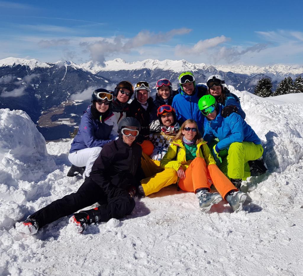 Skifahrt Lehrer Gruppenbild