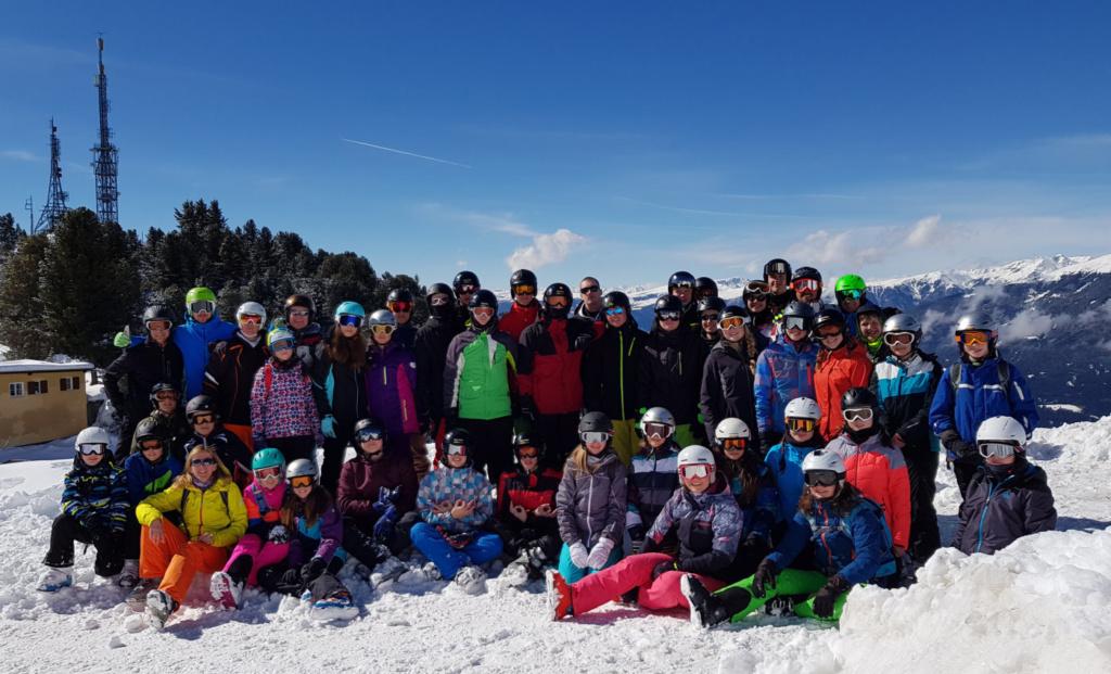 Skifahrt-Gruppenbild