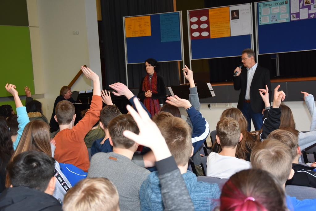 Das Ehrbar-Ensemble besucht Ilseder Gymnasium
