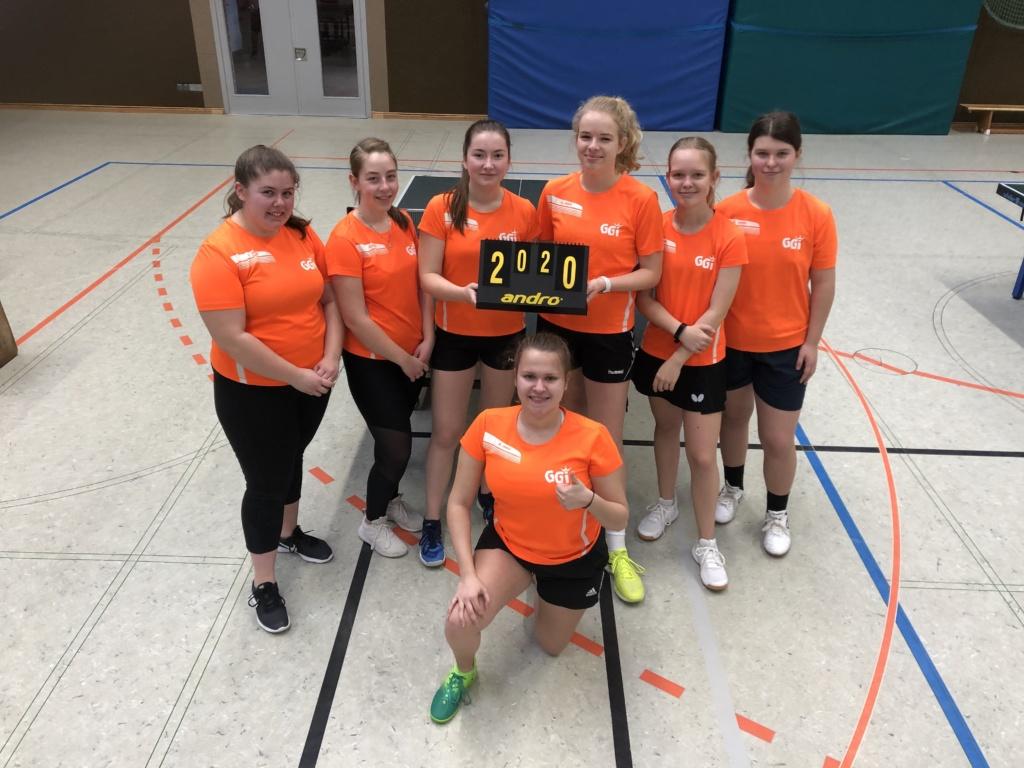 Landesfinale Tischtennis für die Mädchen des Gymnasiums Groß Ilsede