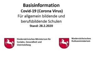 Informationen zur Schulhygiene